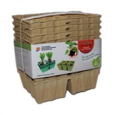 Бумажные горшки для рассады биоразлагаемые, 10 кассет по 4 ячейки