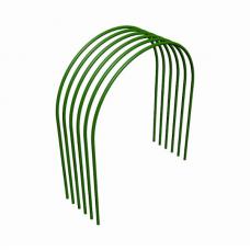 Дуга парниковая 2 м металл в ПВХ D9 x 0,4мм (2 x 0,7 x 1 м) зеленый набор 6 шт