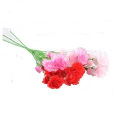 Искусственный цветок Гвоздика 3 бутона разноцветная 1 шт.