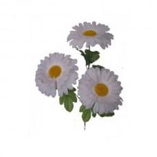 Искусственный цветок Ромашка белая 1 шт.