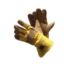 Перчатки спилковые комбинированные утипленные