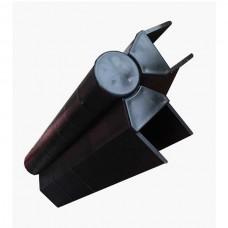 Угловой поворотный элемент для доски клумб, цветочниц и грядок Holzhof размером 150*25 мм коричневый
